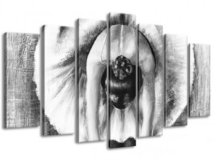Vászonkép A szürke balett-táncosnő bemelegítése 140x80cm  + Ajándék