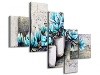 Vászonkép Kék magnóliák vázákban 100x75cm  + Ajándék