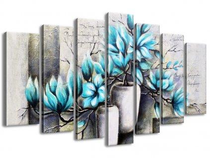 Vászonkép Kék magnóliák vázákban 140x80cm  + Ajándék