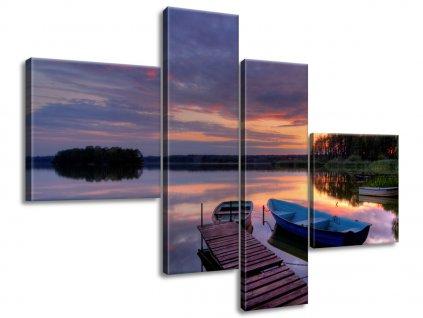 Vászonkép Gyönyörű tó 100x70cm  + Ajándék