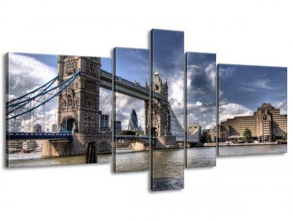 Vászonkép Tower Bridge híd Temzén 160x80cm  HD nyomtatás