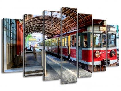 Vászonkép Piros vonat 140x80cm  HD nyomtatás