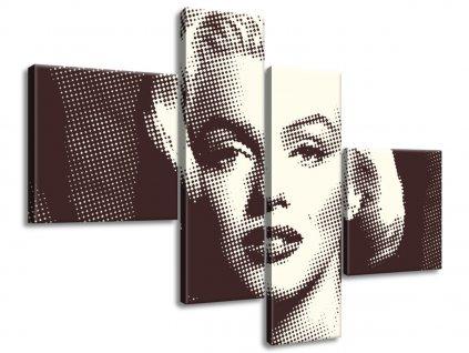 Vászonkép Marilyn Monroe - Norma Jeane Mortenson 100x70cm  + Ajándék