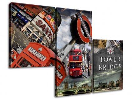 Vászonkép Absztrakt London 90x60cm  HD nyomtatás