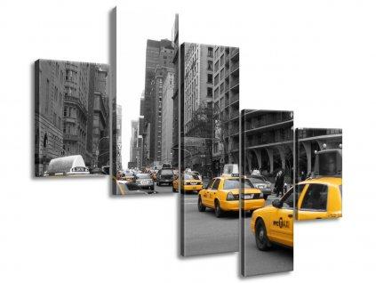 Vászonkép Sárga taxi - CJ Isherwood 100x75cm  HD nyomtatás