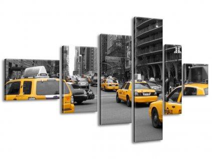 Vászonkép Sárga taxi - CJ Isherwood 180x100cm  HD nyomtatás