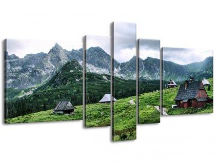Vászonkép Tátrai faházak 160x80cm  + Ajándék