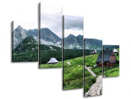 Vászonkép Tátrai faházak 100x75cm  + Ajándék