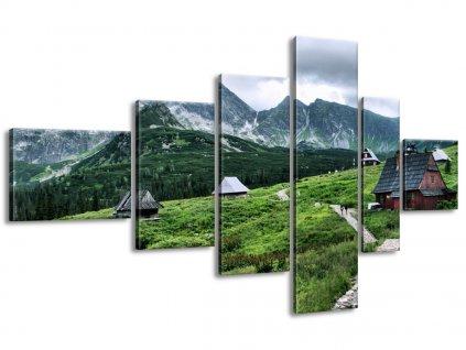 Vászonkép Tátrai faházak 180x100cm  + Ajándék