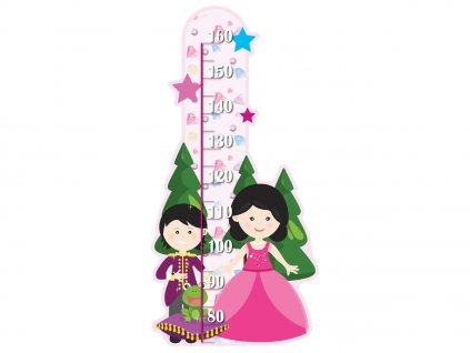 Magasságmérő Herceg és hercegnő 50x100cm  + Ajándék