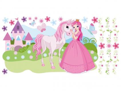 Falmatrica gyerekeknek Hercegnő ruhában és lovacska 100x50cm  + Ajándék