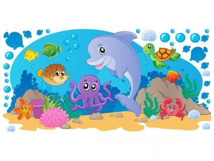 Falmatrica gyerekeknek Tengeri állatkák 100x50cm  + Ajándék