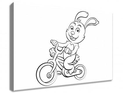 Kifestő vásznon Nyuszi kerékpáron 30x20cm  + Ajándék