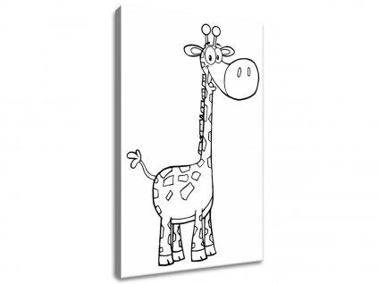 Kifestő vásznon Vidám zsiráf 20x30cm  + Ajándék