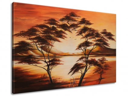 Kézzel festett kép Gyönyörű Afrika 120x80cm  + Ajándék