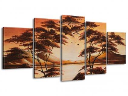 Kézzel festett kép Gyönyörű Afrika 150x70cm  + Ajándék