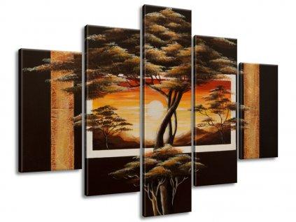Kézzel festett kép Afrikai táj fákkal 150x105cm  + Ajándék