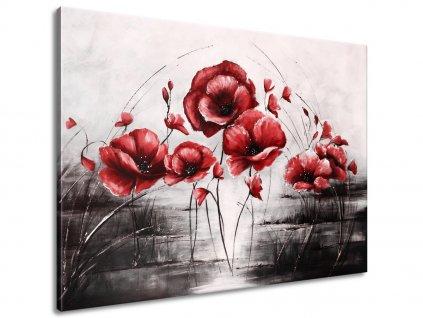 Kézzel festett kép Piros pipacsok 70x100cm  100% kézzel festett