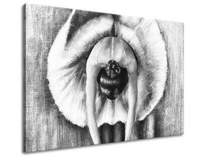 Kézzel festett kép A szürke balett-táncosnő bemelegítése 100x70cm  + Ajándék