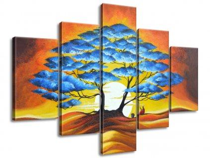 Kézzel festett kép Pihenés a kék fa alatt 150x105cm  + Ajándék