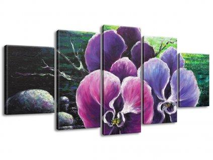 Kézzel festett kép Orchidea a pataknál 150x70cm  + Ajándék