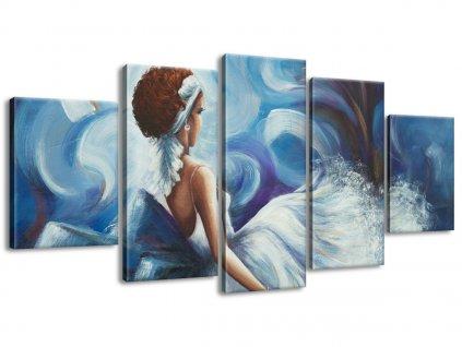 Kézzel festett kép Gyönyörű nő tánc közben 150x70cm  + Ajándék