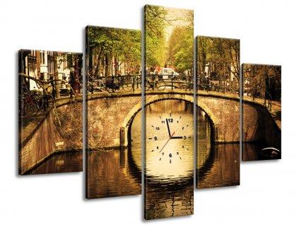 Órás falikép Amszterdami híd 150x70cm  + Ajándék