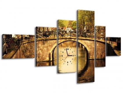 Órás falikép Amszterdami híd 180x100cm  + Ajándék
