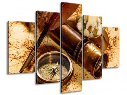 Órás falikép Régi térfalikép 150x105cm  + Ajándék