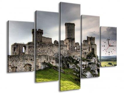 Órás falikép Várromok 150x105cm  HD nyomtatás
