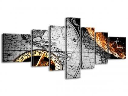 Órás falikép Történelmi térfalikép 160x70cm  + Ajándék