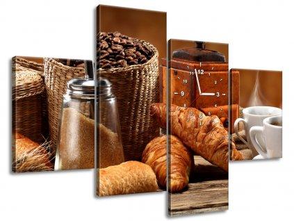 Órás falikép Kávé 120x80cm  + Ajándék