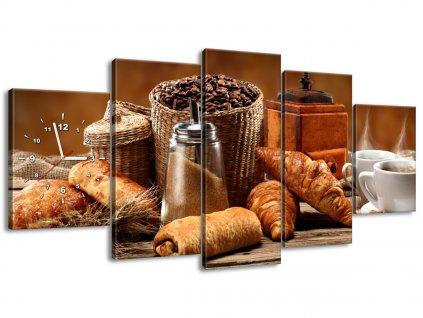 Órás falikép Kávé 150x70cm  + Ajándék