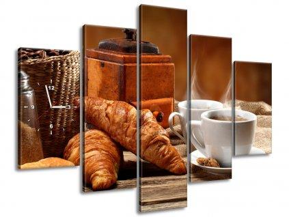 Órás falikép Kávé 150x105cm  + Ajándék