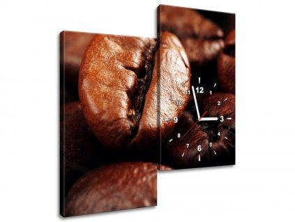 Órás falikép Kávébab részlet 60x60cm  + Ajándék