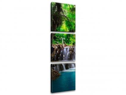 Órás falikép Színtiszta vízesés a dzsungelban 90x70cm  + Ajándék