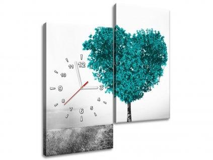 Órás falikép Türkiz szeretetfa 60x60cm  + Ajándék