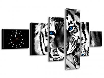 Órás falikép Festett tigrisek 180x100cm  HD nyomtatás