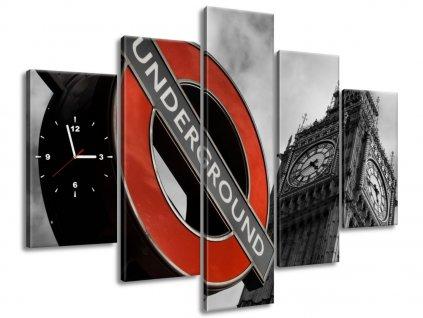 Órás falikép Londoni metró 150x105cm  HD nyomtatás