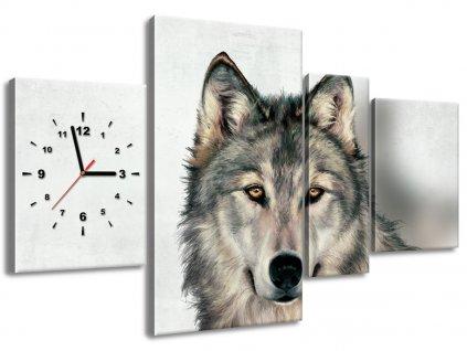 Órás falikép Gyönyörű farkas 120x70cm  + Ajándék