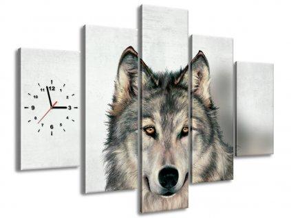 Órás falikép Gyönyörű farkas 150x105cm  + Ajándék