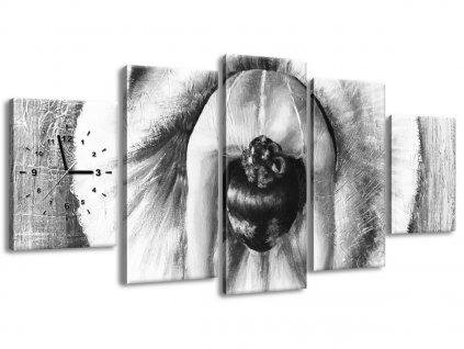 Órás falikép A szürke balett-táncosnő bemelegítése 150x70cm  + Ajándék