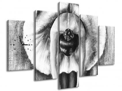 Órás falikép A szürke balett-táncosnő bemelegítése 150x105cm  + Ajándék