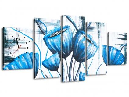 Órás falikép Mennyei pipacsvirágcsokor 150x70cm  + Ajándék