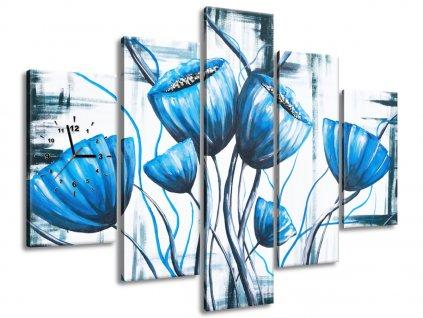 Órás falikép Mennyei pipacsvirágcsokor 150x105cm  + Ajándék