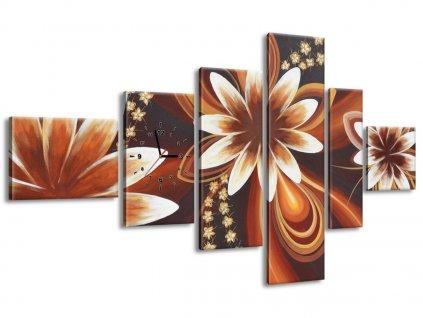 Órás falikép Titokzatos virágok 180x100cm  + Ajándék