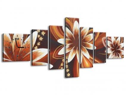 Órás falikép Titokzatos virágok 160x70cm  + Ajándék