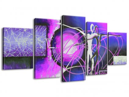 Órás falikép Lila vegyes érzelmek 150x70cm  + Ajándék