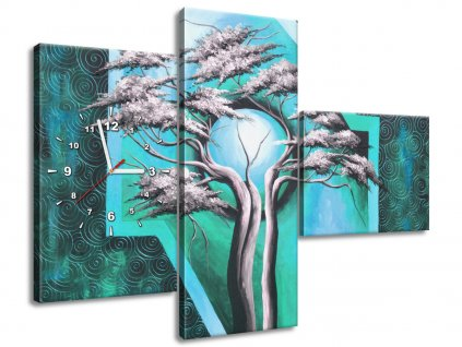 Órás falikép Hatalmas fa éjfélkor 100x70cm  + Ajándék