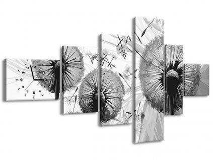 Órás falikép Szürke pitypangok 180x100cm  + Ajándék
